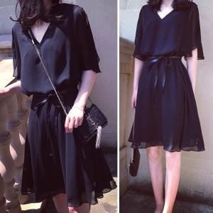 小黑裙赫本黑色连衣裙 ¥39.9