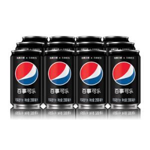 百事可乐无糖碳酸饮料迷你罐可乐型汽水200mlx12罐整箱百事可乐出品*2件 32.62元(合16.31元/件)