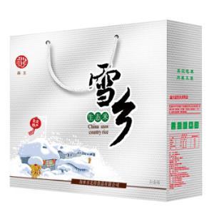 森王晶珍雪乡生态米白金礼盒5kg(长粒香米礼品年货公司福利团购)*2件 67.64元(合33.82元/件)