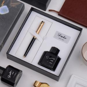 公爵(DUKE)塞洛克系列金色钢笔/墨水笔/礼品笔+墨水礼盒套装