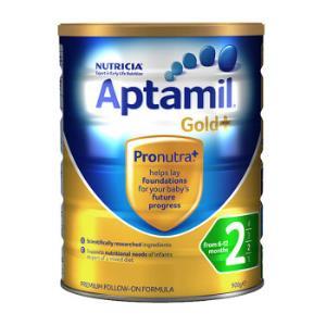 Aptamil爱他美金装婴儿奶粉2段900g5罐 748.25元含税包邮包邮(需用券)