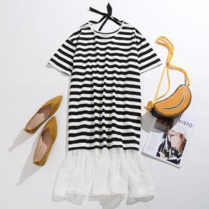 JEANSWEST真维斯女士黑白条纹连衣裙84.92元