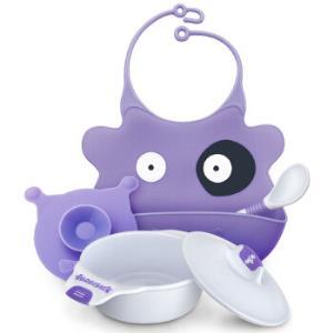 BABISIL贝儿欣儿童天使餐具套装紫色*3件 177元(合59元/件)