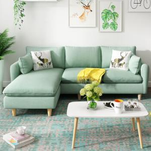 北欧布艺沙发小户型乳胶沙发实木框架 1080元