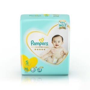Pampers帮宝适一级系列婴儿纸尿裤S号76片*2件 175元(合87.5元/件)