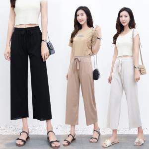 冰丝针织韩版显瘦阔腿裤 ¥18.9