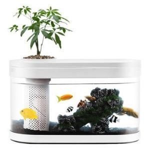 小米有品生态鱼缸画法几何两栖生态懒人亚克力水族箱 238元