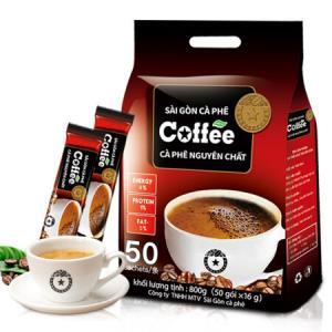 越南进口西贡咖啡三合一速溶原味咖啡粉50条 29.9元