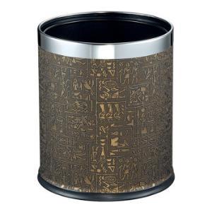 EKO垃圾桶家用圆形双层不锈钢垃圾筒无盖垃圾篓9445(埃及纹)10L*2件+凑单品55.92元(需用券,合27.96元/件)