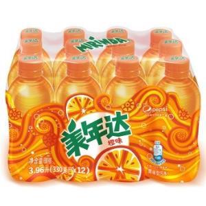 美年达Mirinda橙味汽水碳酸饮料300/330ml*12瓶整箱装百事可乐公司出品新老包装随机发货 13.92元