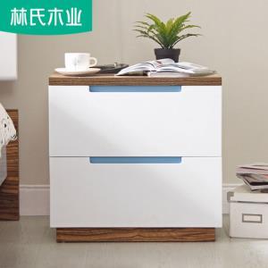 林氏木业简约现代白色床头柜卧室床边柜迷你小柜子储物家具BI1B-C 380元