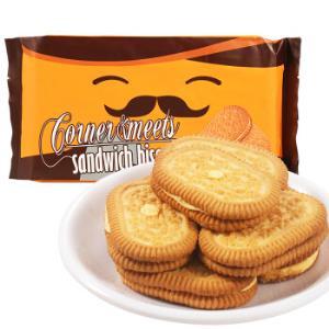 印尼进口卡乐米斯CornerMeets夹心饼干休闲零食芝士味300g/袋*11件106.8元(合9.71元/件)