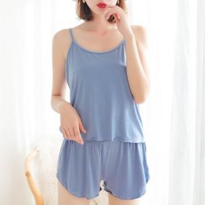 慕锦记MJJK-5001女士吊带睡裙套装吊带+短裤XL-3XL码 19.8元(需用券)