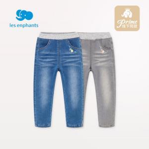 丽婴房童装女童牛仔裤宝宝修身的版型牛仔夹棉长裤儿童牛仔裤冬厚113.15元(需用券)