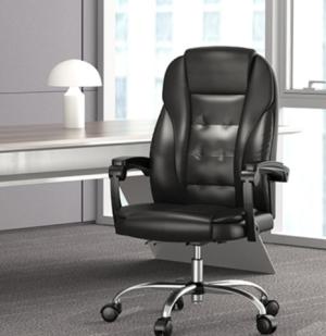Hbada黑白调HDNY166PU皮家用电脑椅黑色 384元