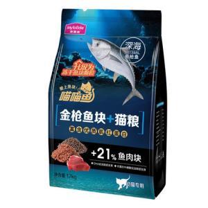 麦富迪猫粮幼猫2-12月喵喵鱼鱼块猫粮1.7kg84元