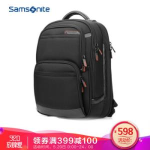 新秀丽双肩包男女电脑包14寸商务背包笔记本包Samsonite旅行包36B黑色 478元