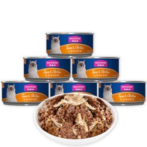 麦富迪猫湿粮猫罐头猫咪罐头拌食吞拿鱼鸡肉味170g*12整箱装*2件49.6元(合24.8元/件)
