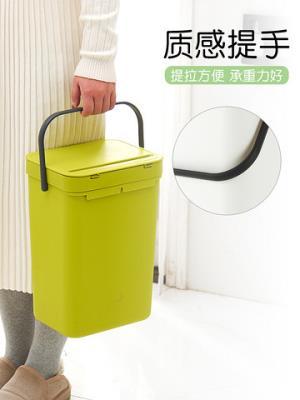 挂墙上的垃圾桶家用客厅卧室厨房卫生间免打孔创意大号厕所垃圾筒13.9元