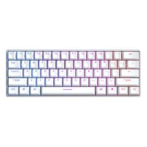 iQunixF60S机械键盘无线蓝牙键盘办公键盘铝合金外壳61键RGB背光樱桃Cherry轴笔记本电脑键盘银色红轴 479.2元