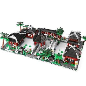 星堡积木XB01110中华街景系列苏州园林随机一款 35元包邮(需用券)