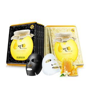 拍2件!蜂蜜面膜10片补水保湿提亮肤色提拉紧致修护黑面膜男女用 券后29元