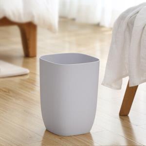 妙然北欧创意简约素色垃圾桶10L家用厨房客厅塑料垃圾筒无盖卫生桶浅灰色简约垃圾桶19.9元