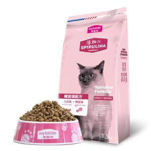 麦富迪猫粮藻趣儿幼猫粮成猫粮金枪鱼三文鱼螺旋藻1.5kg天然猫粮三文鱼味丨成猫丨1.5kg*3件63元(合21元/件)
