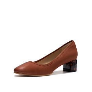 clarks其乐2019新款女鞋Grace Olivia正装浅口单鞋女高跟鞋女粗跟 909元