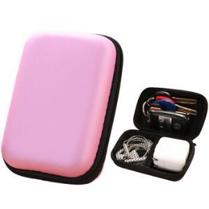 净朵便携式数据线收纳包手机线耳机收纳盒整理包零钱拉链包耳机收纳―颜色随机*3件39.69元(合13.23元/件)