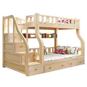 兰秀全实木床上下床子母床两层儿童床双层床高低床松木成人床上下铺双人床多功能2098元