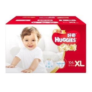 HUGGIES好奇心选婴儿成长裤XL104片*2件