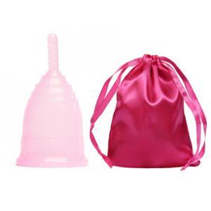 四万公里可排泄月经杯月事杯月亮杯可替卫生巾卫生棉条防侧漏环保循环SW8017粉色S号    13.8元