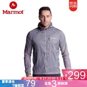 20点开始:Marmot土拨鼠R52170户外防风透气修身男款防晒衣209元