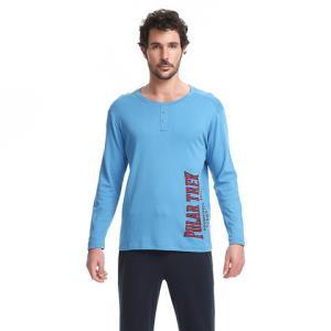 SCHIESSER/舒雅男士全棉长袖长裤家居服套装E9/12159H 139元