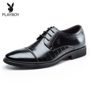 花花公子(PLAYBOY)男士经典系带商务皮鞋英伦圆头正装鞋男鞋黑色44159元