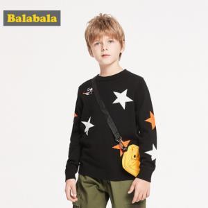 Balabala巴拉巴拉2019新款秋装男童纯棉套头毛衫59.7元包邮