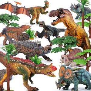 活石恐龙玩具仿真模型套装10只套装(送8颗树2个石头1本恐龙手册) 68元