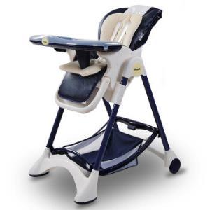 帛琦(Pouch)多功能儿童餐椅婴儿餐椅吃饭座椅可坐可躺K05-1藏青色 569元