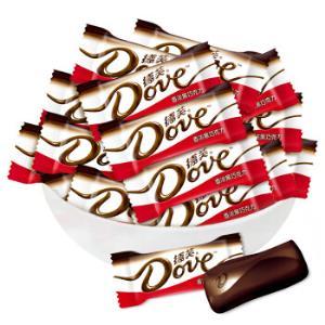 德芙(Dove)德芙香浓黑巧克力办公室休闲零食喜糖婚糖散装500g49元