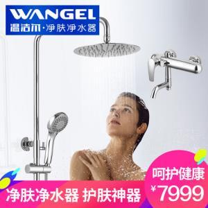 美国温洁尔浴室净肤净水器淋浴花洒套装家用洗澡淋雨顶喷头龙头7999元包邮