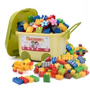 大颗粒积木儿童玩具拼接拼插兼容乐高积木215粒+百变汽车+说明书+贴纸159元(需用券)