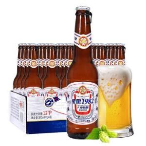 金星啤酒1982原浆大师精酿12度300ml*24瓶整箱装(KINGSTARBEER) 119元