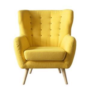 KUKa顾家家居DS1562美式休闲单人座椅布艺小沙发 999元包邮