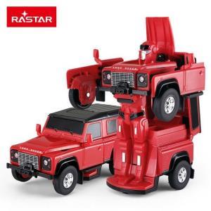 星辉(Rastar)路虎卫士变形合金车带声光口袋机器人变形金刚玩具汽车62000红色 29元(需用券)