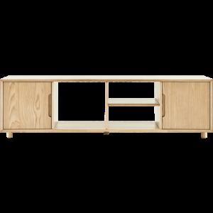 8H全实木电视柜北美白蜡木地柜小户型家具客厅储物柜子茶几组合1699元