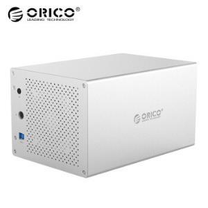 奥睿科(ORICO)3.5英寸硬盘柜usb3.0SATA串口HDD台式机硬盘盒全铝外置硬盘盒五盘位WS500U3银色 659元