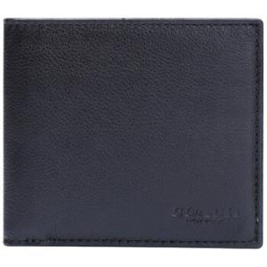 COACH蔻驰奢侈品男士黑色皮质短款对折钱包钱夹F75084BLK 630元