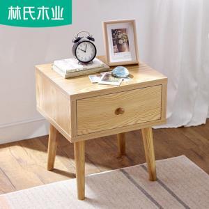 卧室简约迷你床头柜实木原木色柜子储物床头收纳柜边柜角柜EN1B599元
