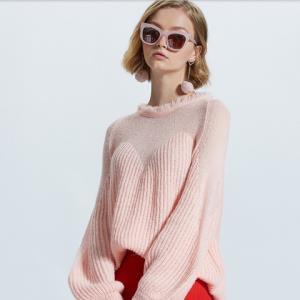 ochirly欧时力1GZ3037330女士灯笼长袖毛衣 低至154.93元(双重优惠)